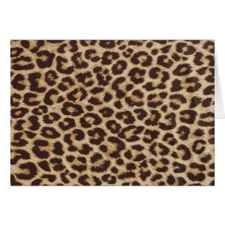 Leopard Print Note Card