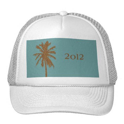 Leopard Print Palm Tree Mesh Hat