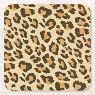 Leopard Print Paper Coasters