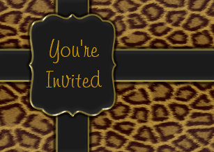 Leopard Print Hens Party Invitations Zazzle Com Au