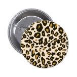 Leopard print pattern 6 cm round badge