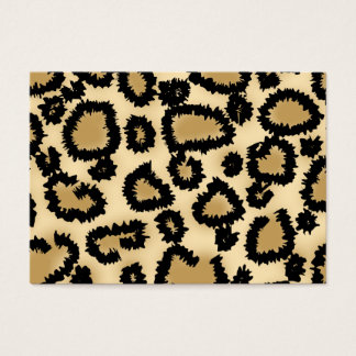 Leopard Print Pattern, Brown and Black. Business Card