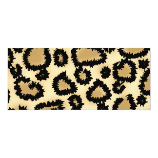 Leopard Print Pattern, Brown and Black. Custom Invitations