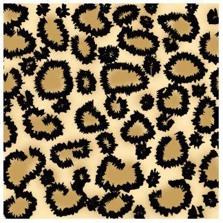 Leopard Print Pattern, Brown and Black. Acrylic Cut Outs