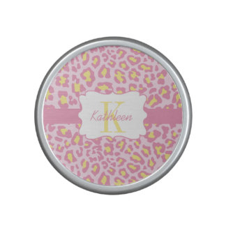 Leopard Print Pink and Yellow Bumpster Speaker
