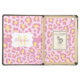 Leopard Print Pink and Yellow iPad Air Case