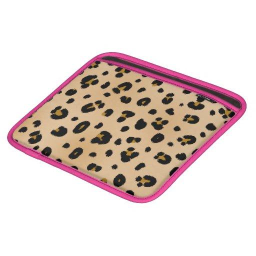 Leopard Print & Pink iPad Sleeve