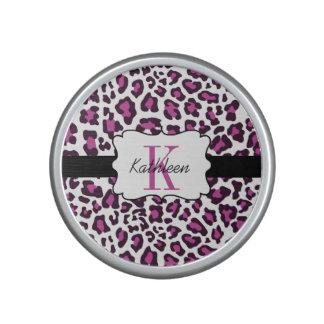 Leopard Print Purple Black White Bumpster Speaker