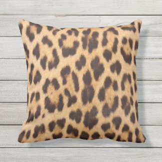 Leopard Print Retro Punk Rockabilly Outdoor Pillow
