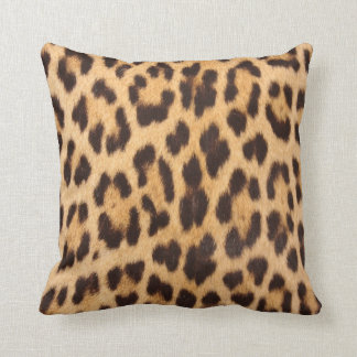 Leopard Print Retro Punk Rockabilly Throw Pillow