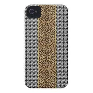 Leopard Print Rhinestone Iphone barely There case
