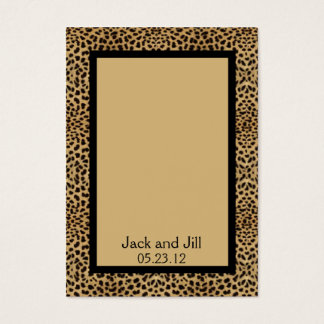Leopard Print Seating Card