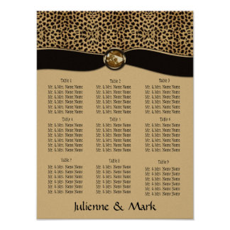 Leopard Print Seating Chart Poster