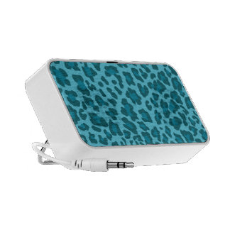 Leopard Print Shades of Blue Travelling Speaker
