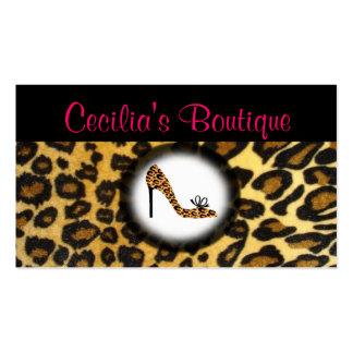 Leopard Print Shoe Boutique Business Card