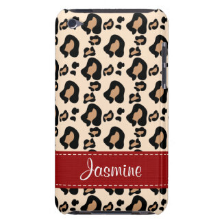 Leopard Print Skin iPod Touch Case Mate Red