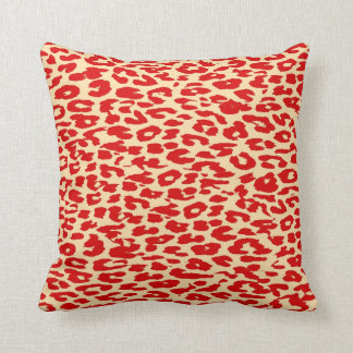 Leopard Print Skin Red Cushion