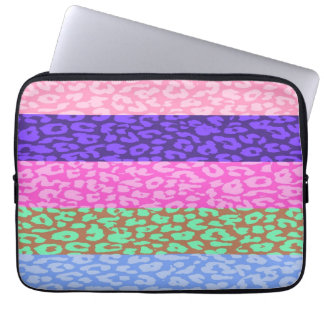 Leopard Print Skin Stripe Pattern 10 Laptop Sleeves
