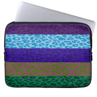Leopard Print Skin Stripe Pattern 5 Laptop Computer Sleeves