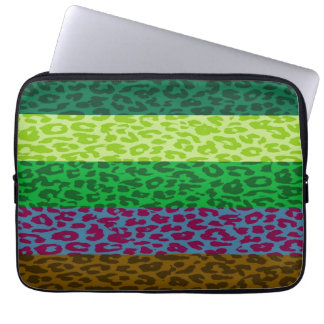 Leopard Print Skin Stripe Pattern 6 Laptop Sleeve