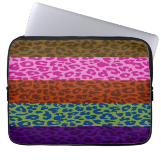 Leopard Print Skin Stripe Pattern 7 Laptop Sleeve