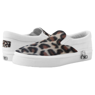 Leopard Print Slip-On Shoes