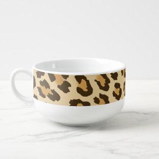 Leopard Print Soup Mug
