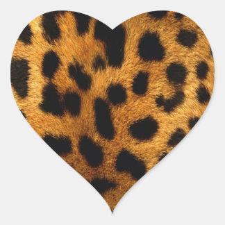 leopard-print heart stickers