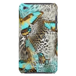 Leopard Print & Teal Butterflies Case-Mate iPod Touch Case