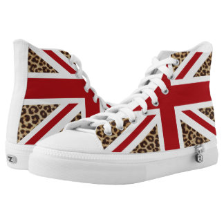 Leopard Print Union Jack UK Flag Shoe