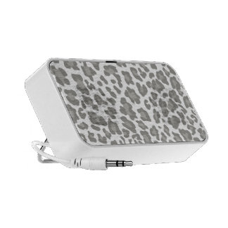 Leopard Print White and Gray PC Speakers