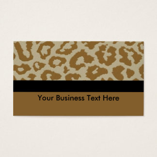 leopard print with black stripe business card