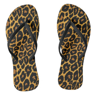 Leopard Print with Gradient Gold Thongs