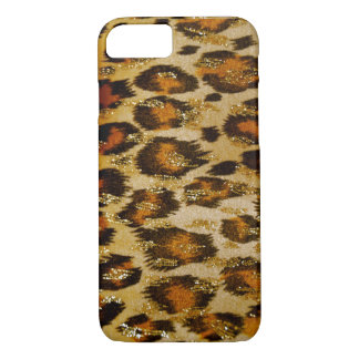Leopard Print with Shiny Gold iPhone 7 case