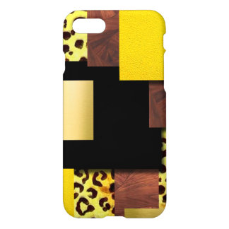 Leopard Print & Wood Collage iPhone 8/7 Case