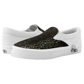 Leopard Print Zipz Slip On Shoes Printed Shoes