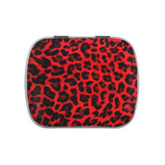 Leopard - Red and Black Candy Tin