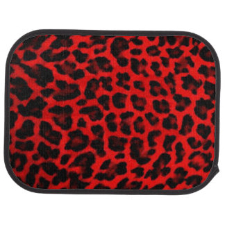 Leopard - Red and Black Car Mat