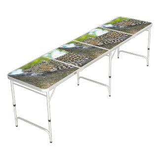 leopard Regulation Size Beer Pong Table