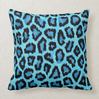 Leopard scrap booking square Cotton Throw Pillow