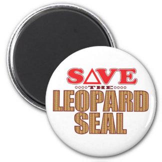 Leopard Seal Save 6 Cm Round Magnet
