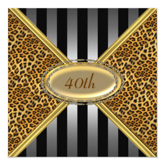 Leopard skin Birthday party Invitation