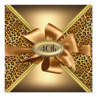 Leopard skin Birthday party Invitation 5