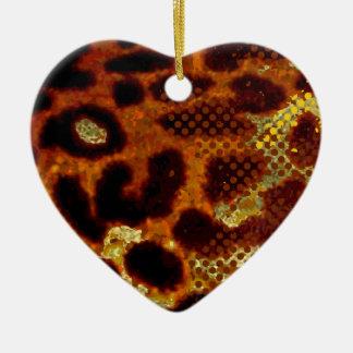 Leopard skin ceramic ornament