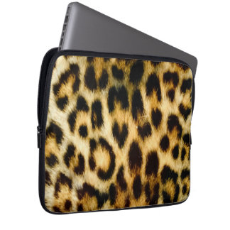 Leopard Skin Effect Laptop Sleeve