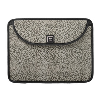 Leopard Skin Exotic Animal Print Elegant Black Sleeve For MacBook Pro
