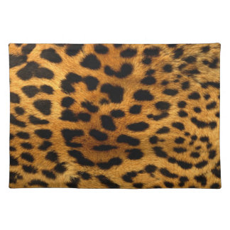 Leopard Skin Fur Animal Print Placemat
