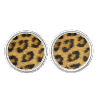 Leopard Skin Hair Print Cuff Links