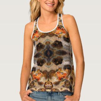 Leopard Skin Natural Rock Colour Photo Designed Singlet