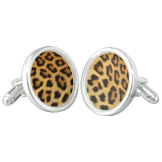 Leopard skin pattern cufflinks
